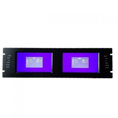 Moniteur 2x LCD 7″ Rack 3U