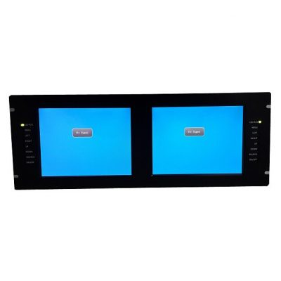 Altronics - Moniteur 2x LCD 8.4 pouces Rack 4U